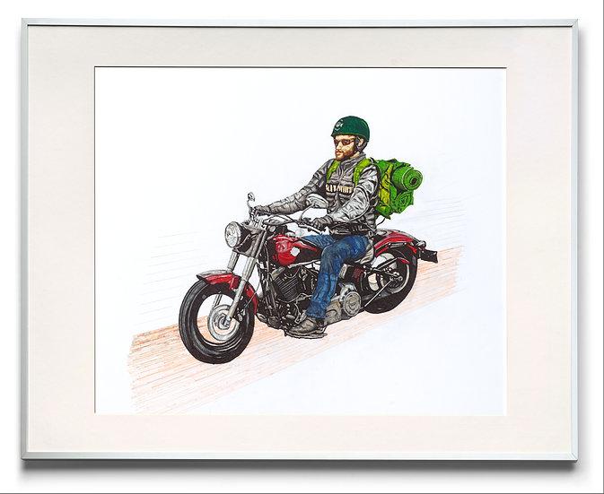 Harley lonley rider