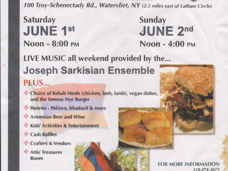 Hello All our wonderful subscribers :) Join us at the Armenian Festival this weekend June 1-2