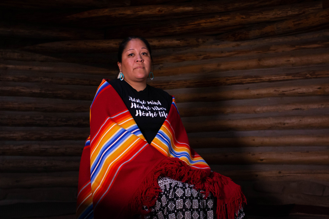 """Nicolle Gonzales, Navajo nurse-midwife and the founder and executive director of Changing Woman Initiative, poses for a photo at the Changing Women doula training in Window Rock, Arizona, on Thursday, Oct. 24, 2019. She believes it's important to have safe space for native women to talk about the health problems they're facing. """"The things that women experience, we don't always talk about,"""" said Gonzales. """"For me, holding a space and creating a space allows women to have those conversations but also to heal and to build collaboration and support beyond this training."""" (Photo by Delia Johnson/Cronkite News)"""