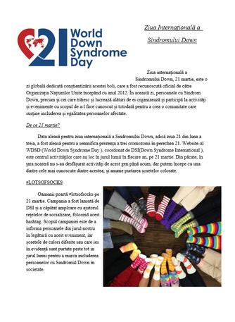 Ziua Internațională a Sindromului Down I