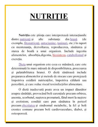 Nutriția