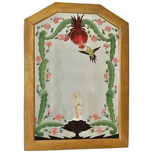 Vintage-Hand-Painted-Mirror-Space-Artist