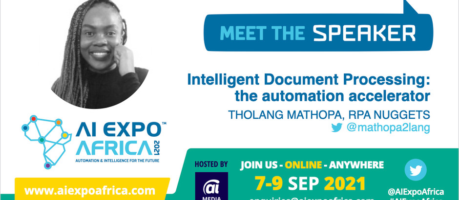 RPA Nuggets Founder speaks at AI Expo Africa