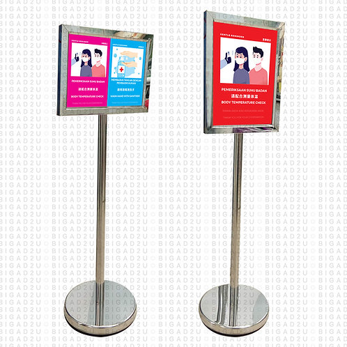 Fight Covid Poster Stand H8 (Single Sided)
