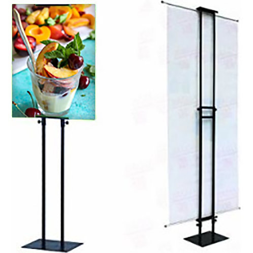 Poster Stand - Adjustable Telescopic Metal Display
