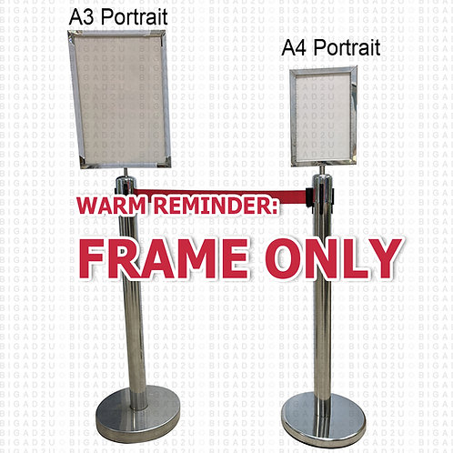 Stainless Steel Queue Up Barrier Stand Frame