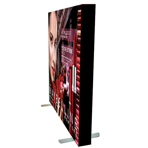Double Sided Frame-less LED Light-box (12cm) With Solid Flat Standee