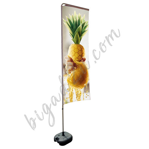 Square Aluminium Beach Pole With Water-Filled 20kg (2.3M)