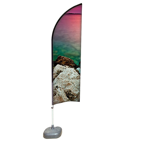 Feather Aluminium Beach Pole With Water-Filled 20kg (3.3M)