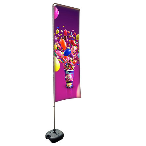 Square Aluminium Beach Pole With Water-Filled 20kg (3.4M)