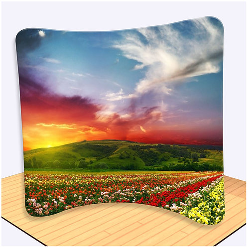 Tension Fabric Backdrop 3x3 (Curve) *8ft(W)x7.5ft(H)