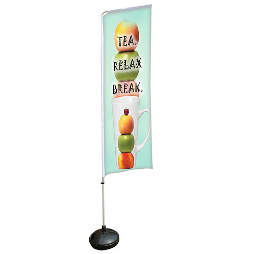 Square Aluminium Beach Pole With Water-Filled 15kg (3.4M)