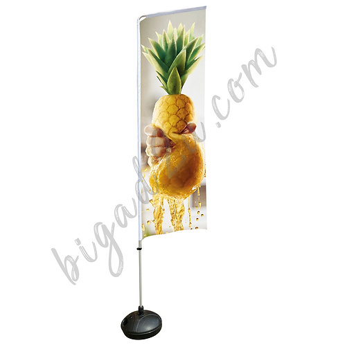 Square Aluminium Beach Pole With Water-Filled 15kg (2.3M)