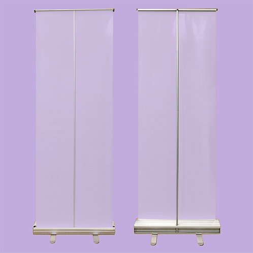Transparent Film Pull Up Banner Stand