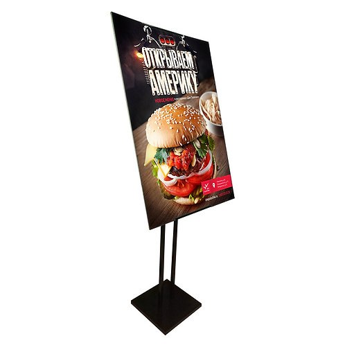 Poster Stand - Adjustable & Rotatable Metal Poster Stand