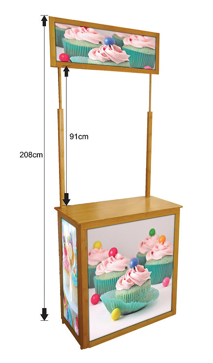 Bamboo Promotion Counter (BB Bamboo Counter B1)