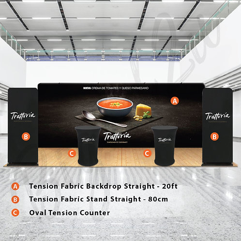 Tension Fabric Backdrop (Packages D)