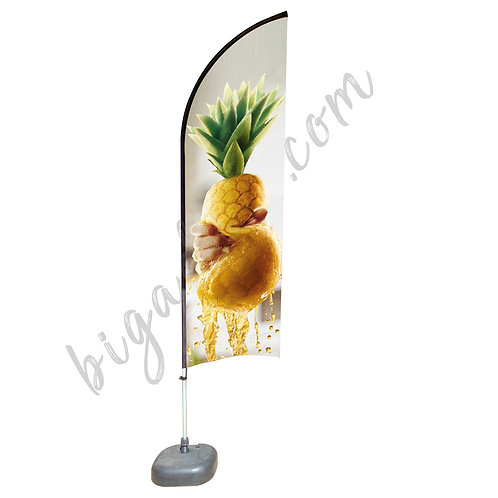 Feather Aluminium Beach Pole With Water-Filled 20kg (2.3M)