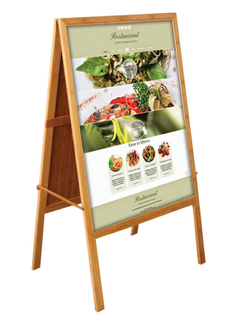 Bamboo A Frame (BB Poster Stand - Double Sided)