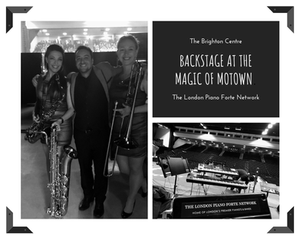Grant Sav backstage at The Magic of Motown
