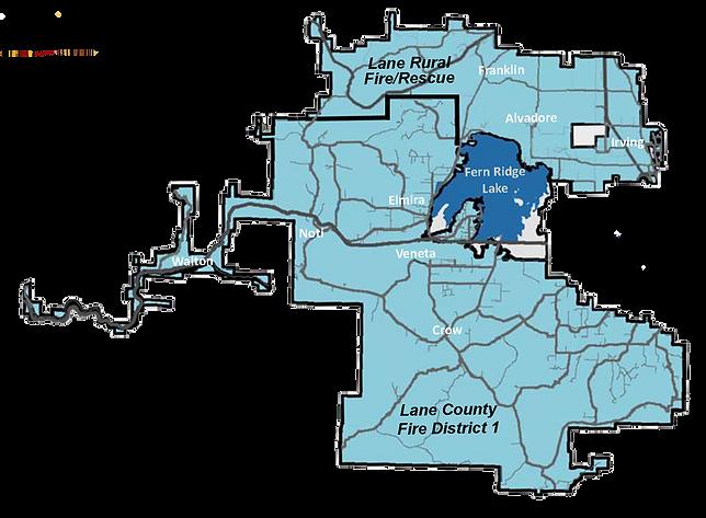 Lane Fire Map.District Map