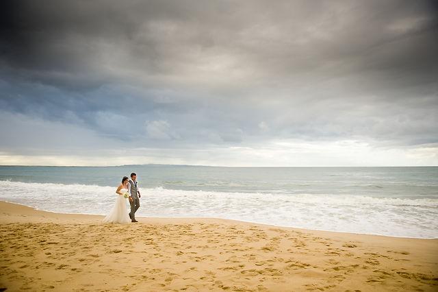 Bride & Groom Noosa Main Beach Wedding from So Very Feminine Hair & Makeup Artistry