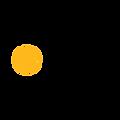 Copy of Black with Orange Globe Icon Edu