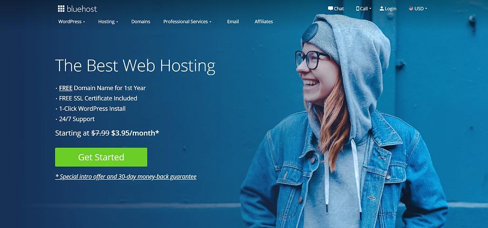 BlueHost Blog Setup Homepage