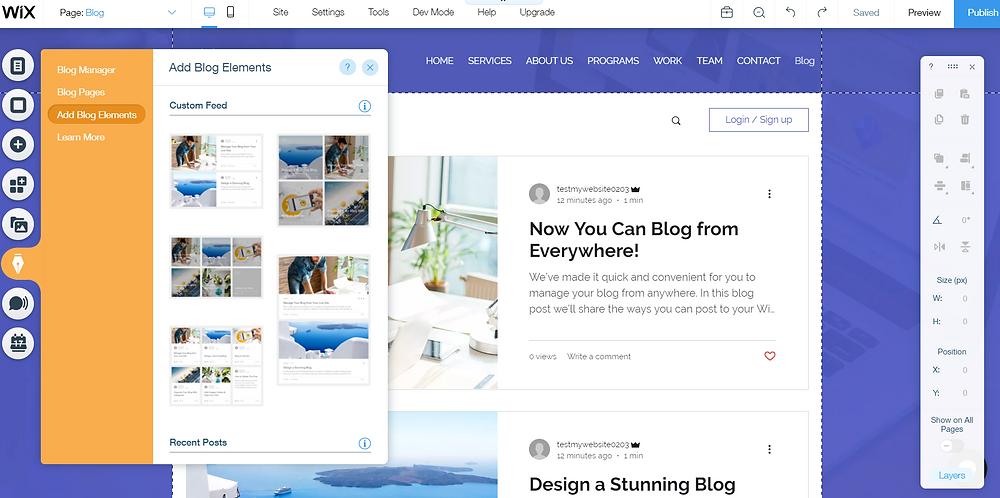Wix Blog Tutorial Blog Elements
