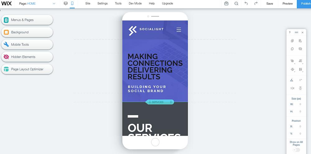 Wix Website Builder Elements Mobile