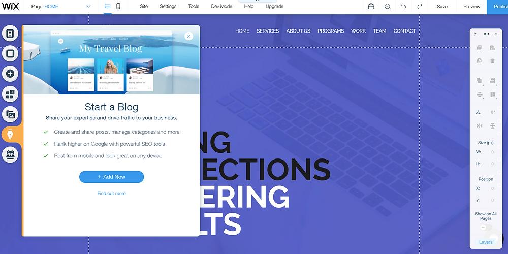 Wix Website Builder Elements Blog