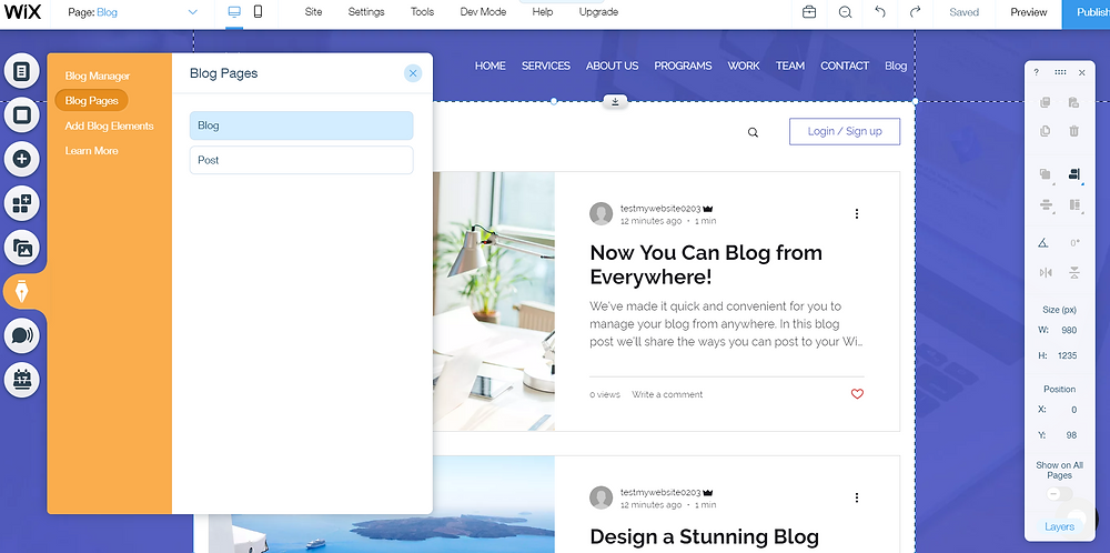 Wix Blog Homepage Tutorial