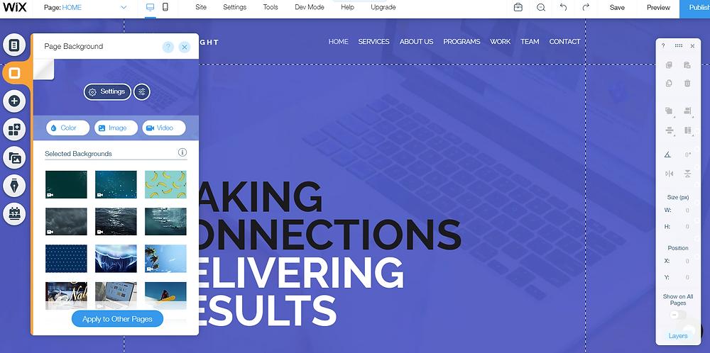 Wix Website Builder Elements