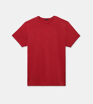 PATRICK ASSARAF Stretch Crew-Neck T-Shirt - Jester Red