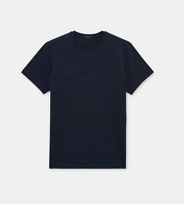 PATRICK ASSARAF Stretch Crew-Neck T-Shirt - Midnight Navy