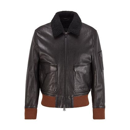 BOSS Leather Bomber Jacket