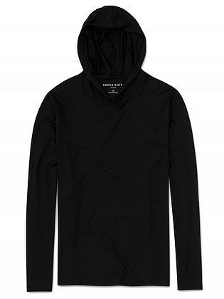 DEREK ROSE Basel Pullover Hoodie - Black