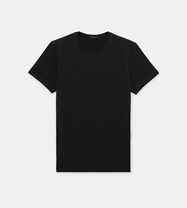 PATRICK ASSARAF Stretch Crew-Neck T-Shirt - Black