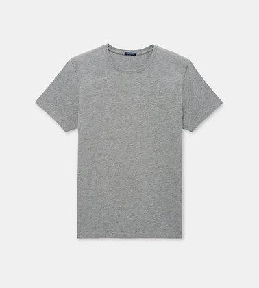PATRICK ASSARAF Stretch Crew-Neck T-Shirt - Mist Melange