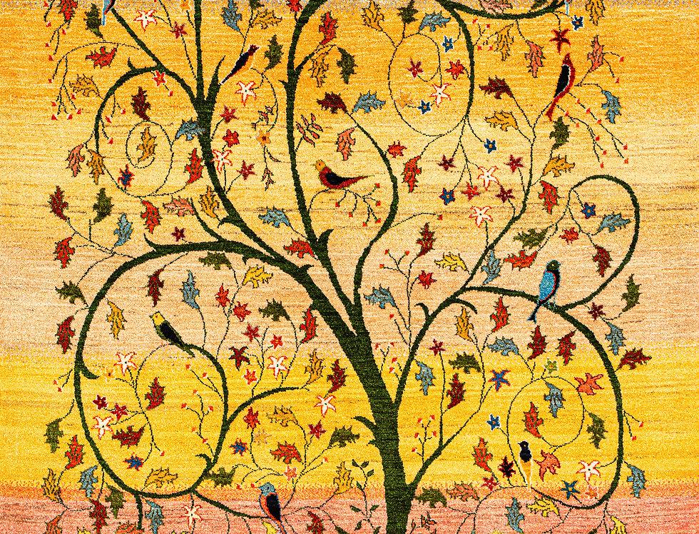 Super Fine Gabbehs Flora & Fauna - Prancing Tree of Life - Spring
