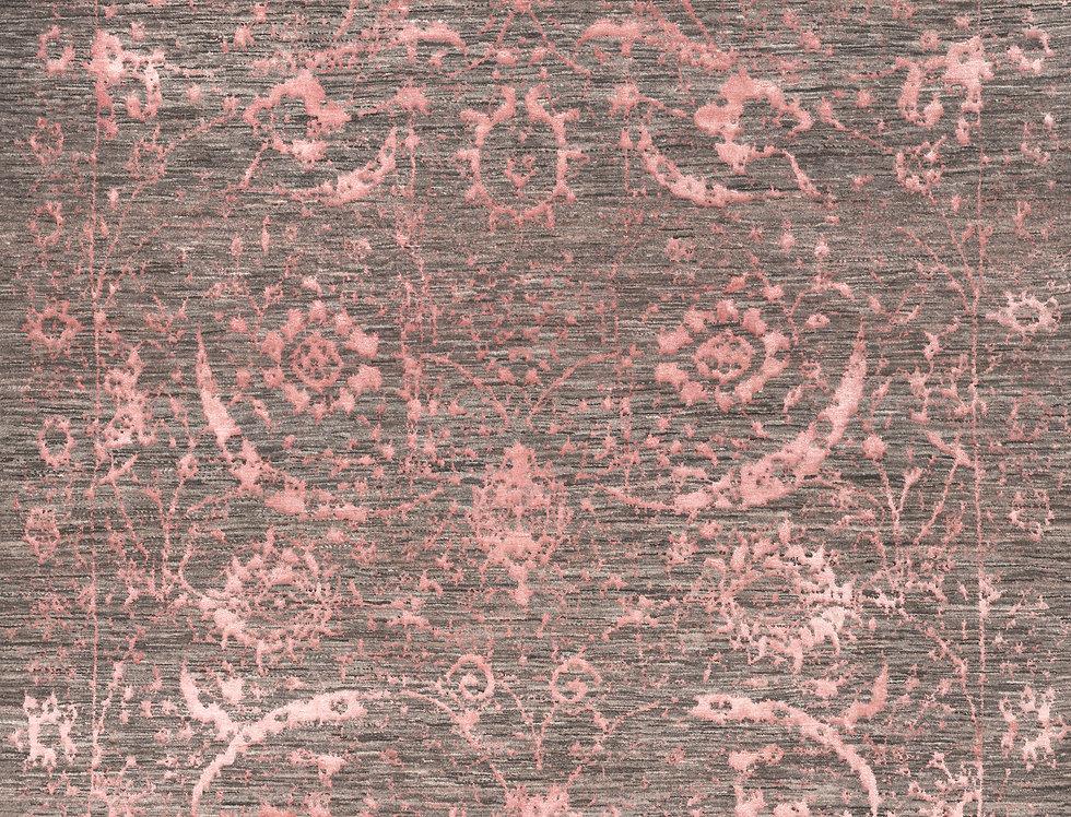 Designer - Vase in Coral Pink & Silver