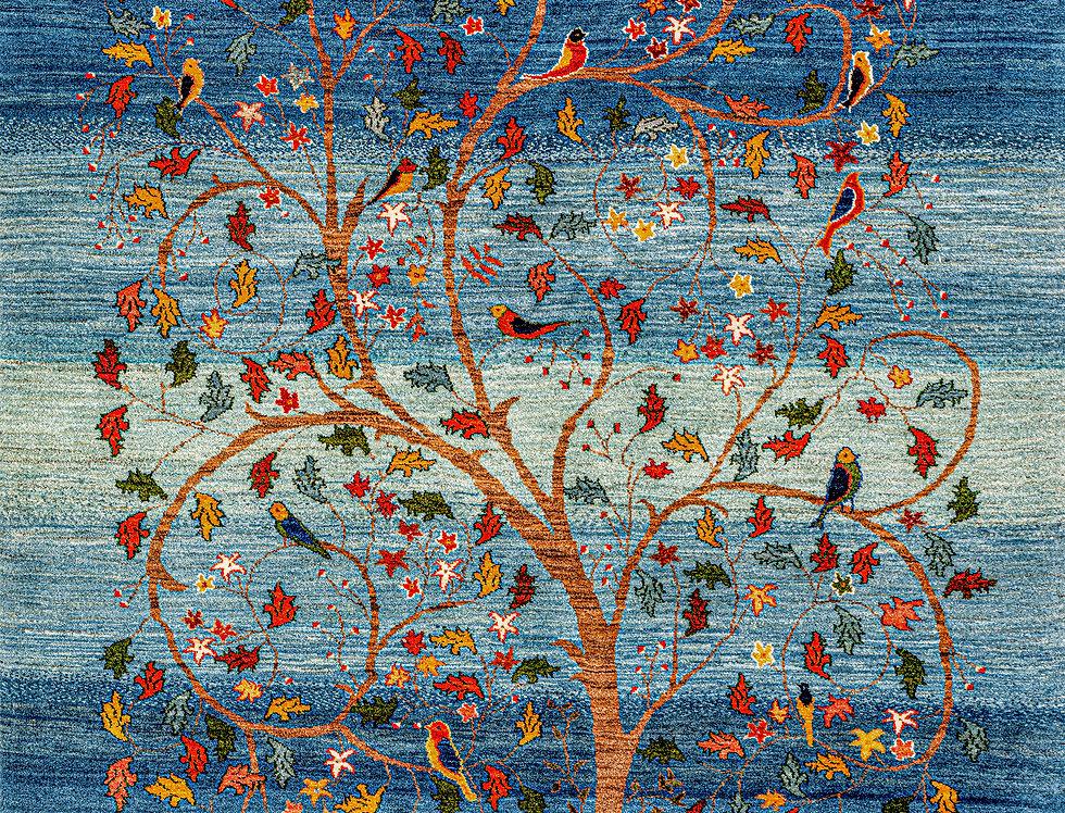 Super Fine Gabbehs Flora & Fauna - Prancing Tree of Life - Winter