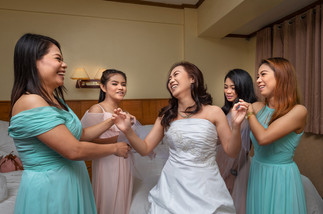 Michelle with Bridesmaids
