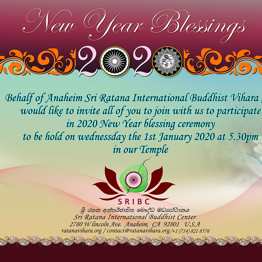 NEW YEAR BLESSING CEREMONY !