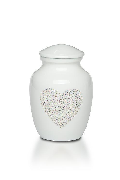 PFPC Sweet Paw Print Heart Pet Urn – Bogati Exclusive – A-4000-S-PPH