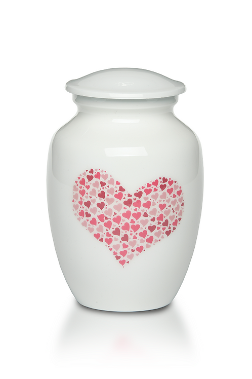 "PFPC ""Pink Heart"" Design Urn – Bogati Exclusive – A-4000-M-PINK HEART"