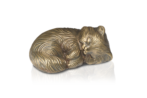 Sleeping Kitty Urn – Bronze – Exclusive Item – A-1468-B
