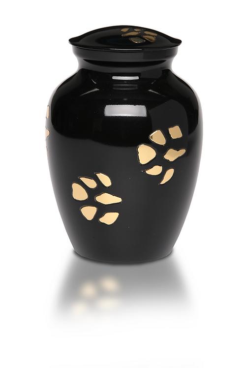 Golden Paws Brass Pet Cremation Urn – MEDIUM – B-1612-M