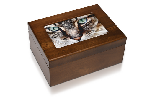PPVH 4″ x 6″ Wooden Photo Memory Urn Box – The Willoughby
