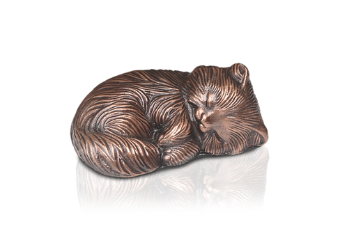Sleeping Kitty Urn – Copper – Exclusive Item – A-1468-C